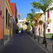 Stock Photo: Colorful houses on street of SantCruz, Tenerife, Canaries