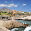 Luxury hotels at Torviscas Playa. Tenerife island, canaries — Stock Photo
