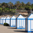 Stock Photo: Cabins on beach of Tenerife island, Canaries