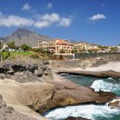 Stock Photo: Rocky coast of CostAdeje.Tenerife island, Canaries