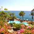 Luxurious resort at the Atlantic ocean. Tenerife island, Canarie — Stock Photo