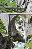 Devil's bridge at St. Gotthard pass, Switzerland — Stock Photo