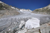 Melting Furka Pass Glacier in Switzerland — Stock Photo