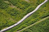 Alpine serpentine at Furka pass, Switzerland — Stock Photo