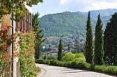 Parque de villa serbelloni em bellagio, no lago italiano famoso — Foto Stock
