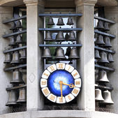 Famous clock on Bahnhofstrasse in Zurich, Switzerland — Stock Photo