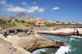 Luxury hotels at Torviscas Playa. Tenerife island, canaries — Stock Photo