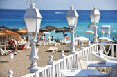 Cafe on the beach of Tenerife, Canaries — Stock Photo