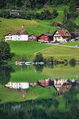 Lungerer lake, Switzerland — Stock Photo