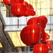 Shopping mall decorated with lanterns for Chinese New Year — Stock Photo #21043923