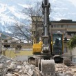 Excavator demolishing an old building — Stock Photo #21046867