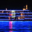 Cruiser ship by night — 图库照片