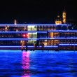 Cruiser ship by night — Stockfoto