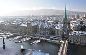 Winter view of Zurich — Stock Photo