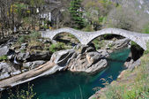 Ponte dei salti bridge in Lavertezzo, Switzerland — Stock Photo