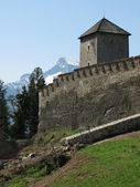 Old fortress on the top of the Monk's mountain in Salzburg, Aust — Stock Photo