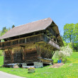 图库照片: Traditional wooden house in Emmental region, Switzerland