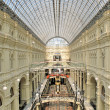 Interior of a shopping mall in Moscow — Stock Photo
