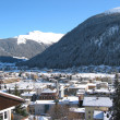 Winter view of Davos - Stock Photo