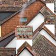 Old tiled roofs in the historical center of Bern, Switzerland — Stock Photo