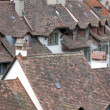 Stock Photo: Old tiled roofs in the historical center of Bern, Switzerland