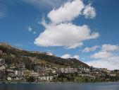 St. Moritz, famous Swiss skiing resort — Stock Photo