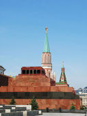 Lenin's mausoleum on the Red Square in Moscow — Stok fotoğraf