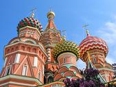 Cattedrale di san basilio sulla piazza rossa, mosca — Foto Stock