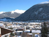Veduta invernale di davos — Foto Stock