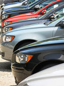 Row of cars — Stock Photo