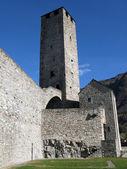 Ancient fortifications in Bellinzona, Switzerland — Stock Photo