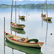 Pleasure boats on Pfaeffikersee, Switzerland — Stock Photo