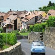Stock Photo: Old car on street of Chexbres, Switzerland