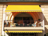 Balcony of a luxury hotel — Stock Photo