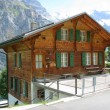 Cottage in Muerren, Switzerland - Stockfoto