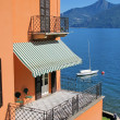 Stock Photo: View to the lake Como from Menaggio town, Italy