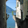 Romantic view to the famous Italian lake Como from Varenna town — Stock Photo #21079461