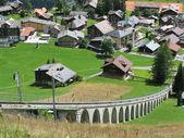 Muerren, stazione sciistica famosa svizzero — Foto Stock