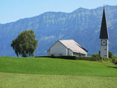 Rural church in Berner Oberland region, Switzerland — Stock Photo