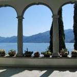 View to the lake Como from villa Monastero. Italy — Stock Photo #21080007
