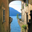 Romantic view to the famous Italian lake Como from Varenna town — Stock Photo #21080895
