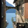 Romantic view to the famous Italian lake Como from Varenna town — Stock Photo #21080955