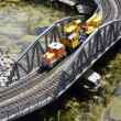 Stock Photo: Miniature railroad