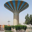 Striped water tower in Er Riyadh, Saudi Arabia - Stock Photo