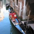 Venice black gondola — Stock Photo #21083963