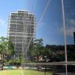 Cubo Negro -- a modern office building in Caracas - Stock Photo