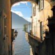Romantic view to the famous Italian lake Como from Varenna town — Stock Photo #21085635