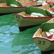 Stock Photo: Row of oar boats