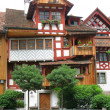 Traditional Swiss house in Arbon, canton Thurgau — Stock Photo