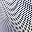 Stock Photo: Metal mesh texture (shallow DOF)